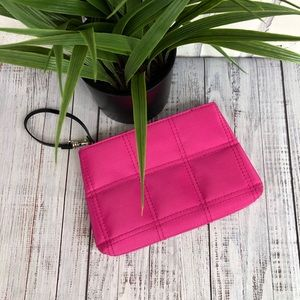 Givenchy Hot Pink wristlet pouch makeup bag small